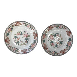 Antique Hand Painted Japanese Noritake Plates - a Pair For Sale
