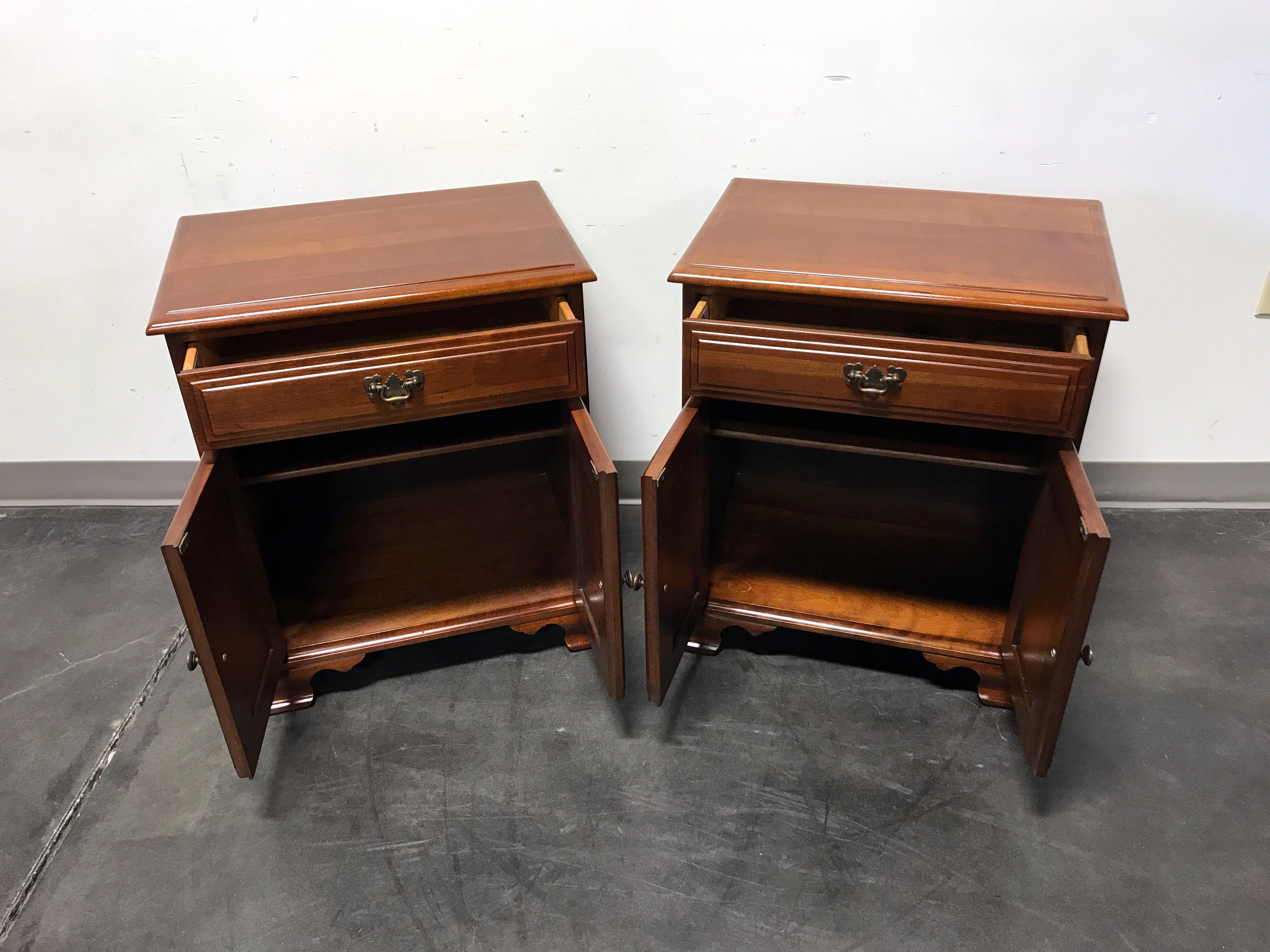 Davis Cabinet Co Solid Cherry Chippendale Bedside Chests