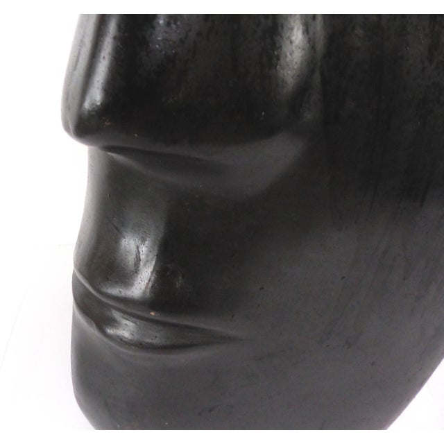 Ceramic Large Ceramic Figurative Sculpture of a Face by Mexican Artist Yuri Zatarain For Sale - Image 7 of 10