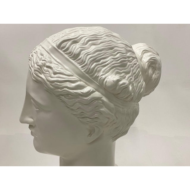 Italian Romantic Fiberglass Bust of Diana, Sculpture For Sale - Image 3 of 13