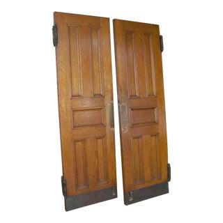 Quatersawn Oak Double Entry Doors - a Pair