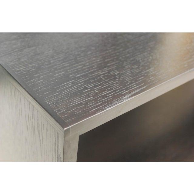Wood Mid-Century Modern Ebonized Oak Zig-Zag Bookcase For Sale - Image 7 of 13