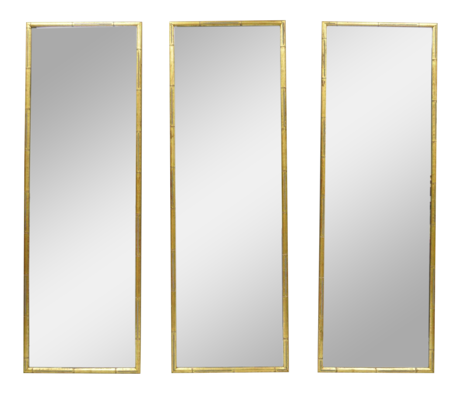 Vintage Italian Hollywood Regency Faux Bamboo Wall Mirrors Set Of 3 Chairish
