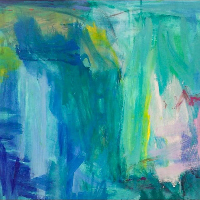 """Canvas Large Abstract Painting by Trixie Pitts """"Reflections"""" For Sale - Image 7 of 9"""