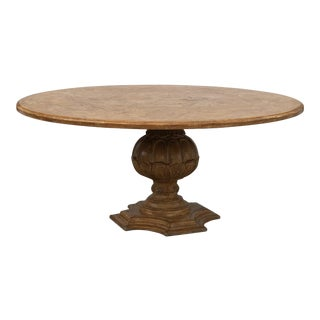 1950s French Country Dining Table With Decorative Base For Sale