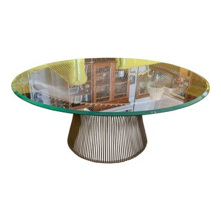 Mid-Century-Modern Warren Platner for Knoll Wire & Glass Coffee Table For Sale