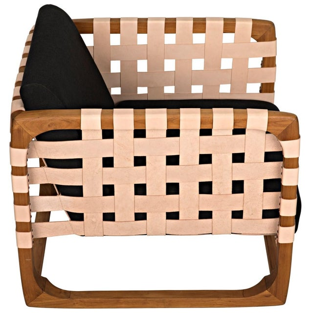 Wood Teak Nebula Chair, Natural For Sale - Image 7 of 9