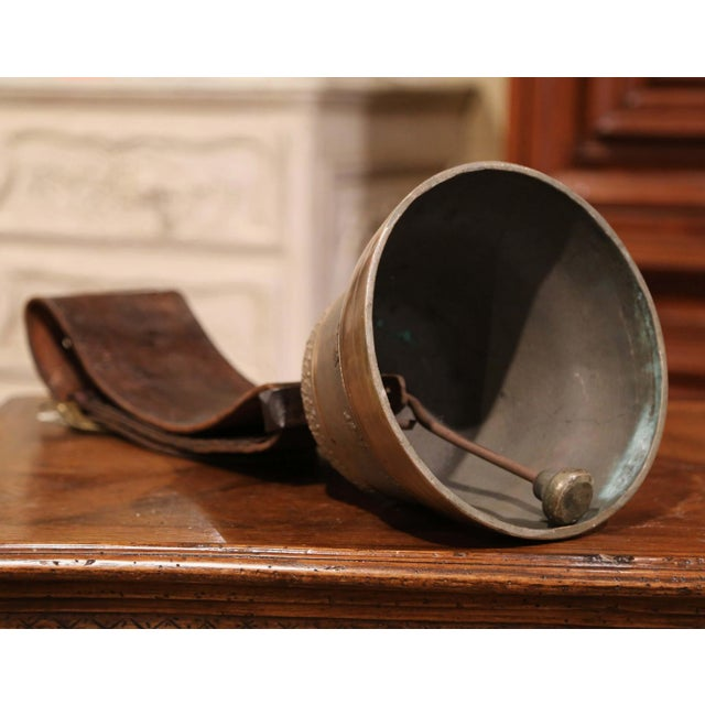 Antique German Bronze Cow Bell For Sale - Image 11 of 13