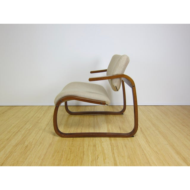 1970s Danish Modern Oddvin Rykken Cantilever Bentwood Lounge Chair For Sale - Image 4 of 11