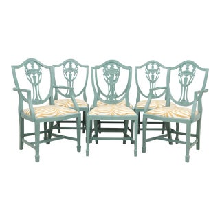 Shield Back Zebra Dining Chairs - Set of 6