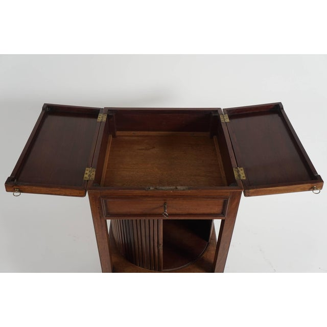 Mahogany Tambour Stand, England, Circa 1790 For Sale In New York - Image 6 of 11