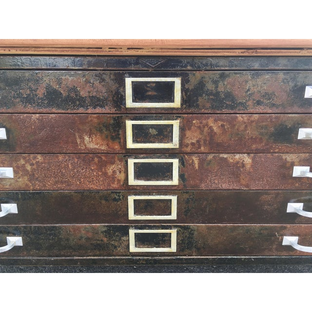Industrial 1980s Industrial Reclaimed Flat File Coffee Table For Sale - Image 3 of 13