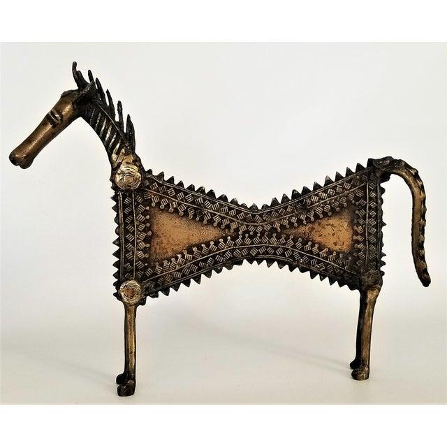1960s Vintage Brutalist Solid Brass Horse Sculpture For Sale - Image 13 of 13