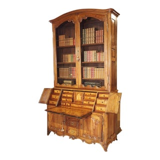 Louis XV Cherrywood Bibliotheque Scriban From Burgundy France, Circa 1750 For Sale