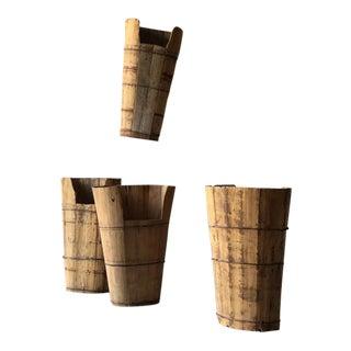 Wooden Grape Hods - Set of 4 For Sale