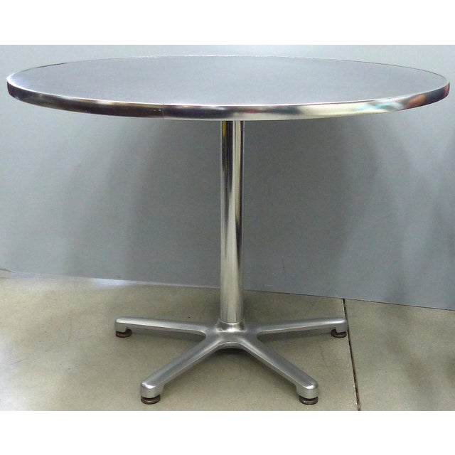 Aluminum Bistro Table by Jorge Pensi for Amat, Spain for Knoll For Sale - Image 9 of 9