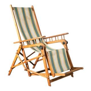 Rare Folding Chaise Longue