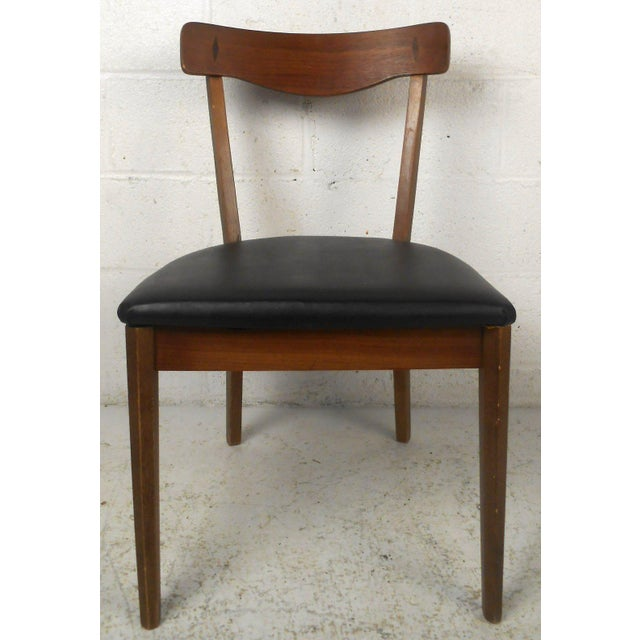 Walnut American of Martinsville Mid Century Matching Desk & Chair For Sale - Image 7 of 10