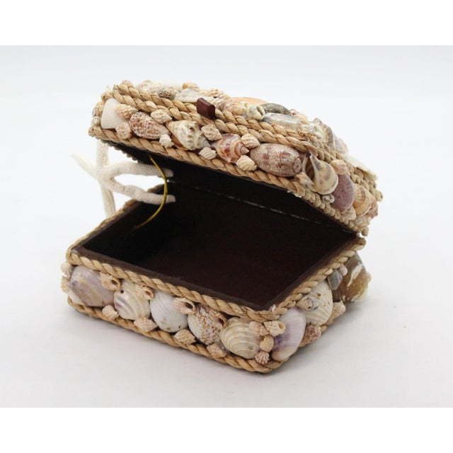 Vintage Shell Encrusted Grotto Style Box For Sale - Image 4 of 6