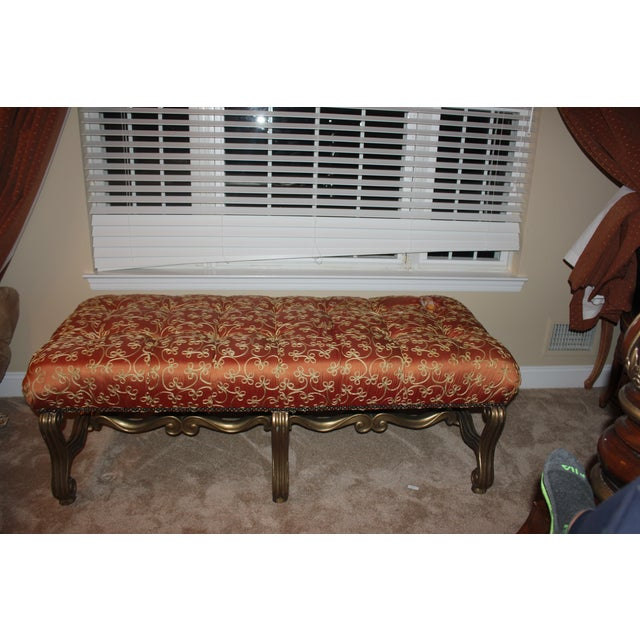 Custom Marge Carson Silk Bench - Image 5 of 5