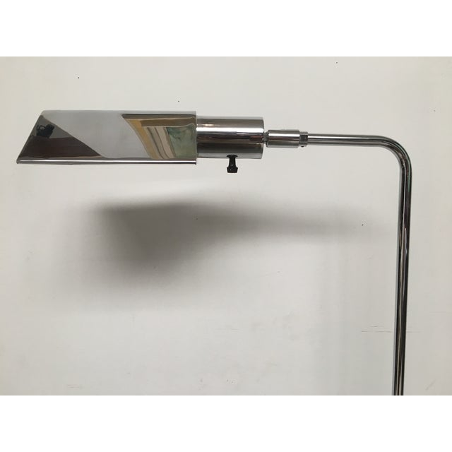 1970s Koch & Lowy Chrome Tent Shade Pharmacy Lamp For Sale - Image 5 of 8