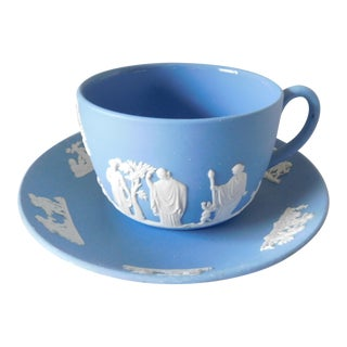 Josiah Wedgwood Porcelain Cup and Saucer Set - 2 Pieces For Sale