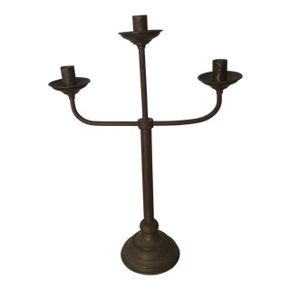 Mid-Century Spanish Metal Candle Holder