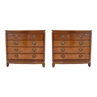 Vintage Chinoiserie Commodes in Rosewood - a Pair For Sale