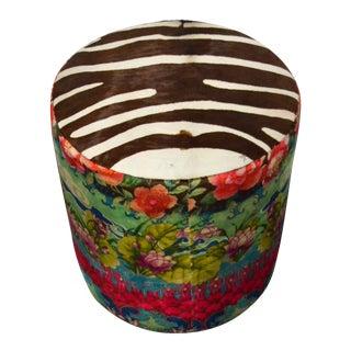 Modern Boho Chic Ottoman For Sale