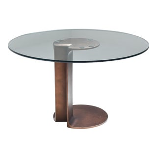 1970s Afra & Tobia Scarpa Bronze Table Tl59 For Sale