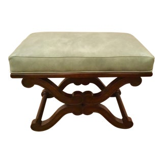 Modern Celerie Kemble for Henredon Leather Kimberly Bench For Sale
