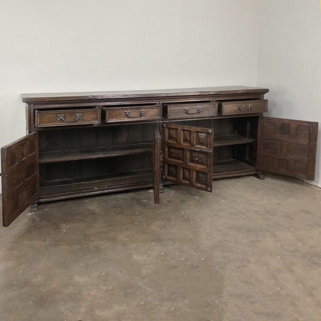 Mediterranean 19th Century Grand Spanish Buffet For Sale - Image 3 of 13