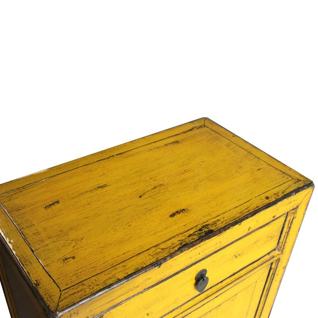 Yellow Side Chests - Pair - Image 4 of 6