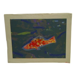 "Limited Edition -- Signed Numbered (X) Print -- Titled ""Gold Fish"" -- by Okamura For Sale"