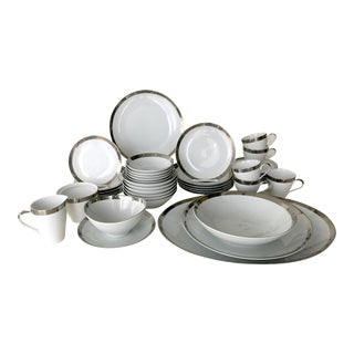 Vintage Mikasa Silver Plated Dinnerware Set With Serving Pieces, Place Settings for 6 - 53 Pieces For Sale