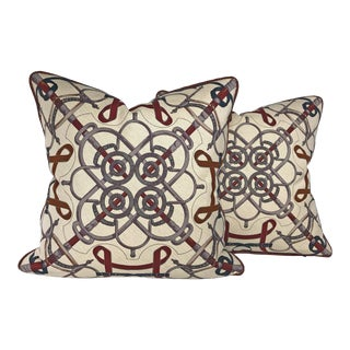 Hermes Éperon d'Or Pillows With Braided Welt - a Pair For Sale