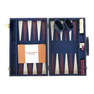 Vintage Backgammon Set W/ Leatherette Case For Sale
