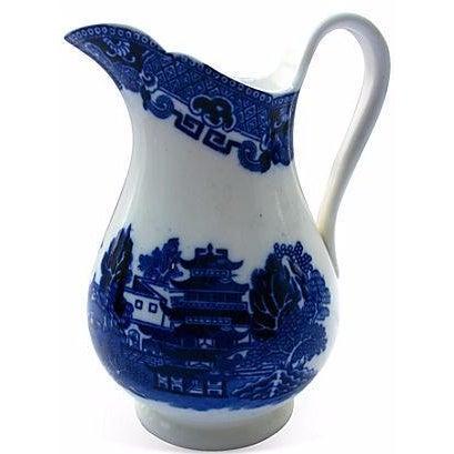 Antique English Willow Porcelain Jug - Image 1 of 4