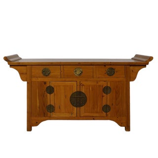 Vintage Chinese Carved Sideboard For Sale
