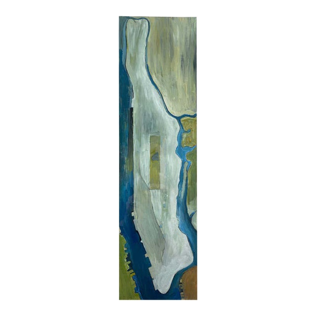 """Chase Langford """"Manhattan No. 1"""", Expressionist Oil Painting, 2003 For Sale"""