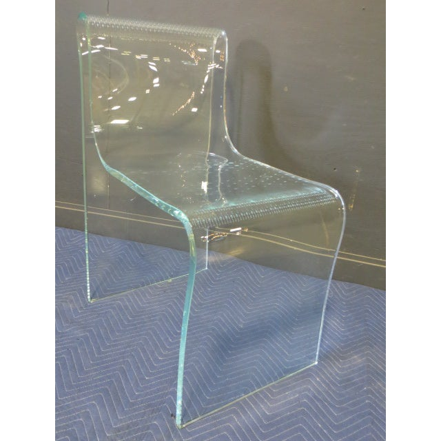 Transparent 1980s Vintage Fiam Glass Ghost Chair For Sale - Image 8 of 12