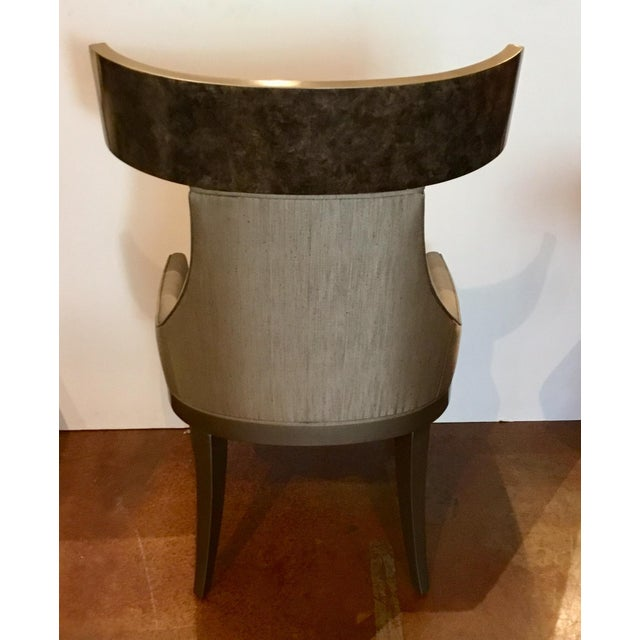 Wood Caracole Modern Sitting in Style Dining Chairs Set of Four For Sale - Image 7 of 8