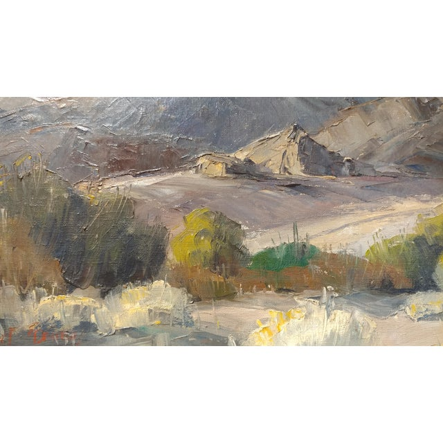 Gold Bennett Bradbury -California Mountain Landscape- Impressionist Oil Painting -C1940s For Sale - Image 8 of 10