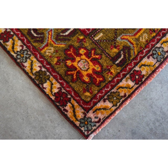 """Antique Turkish Rug Hand Knotted Prayer Rug - 3'4"""" X 5' For Sale - Image 9 of 12"""