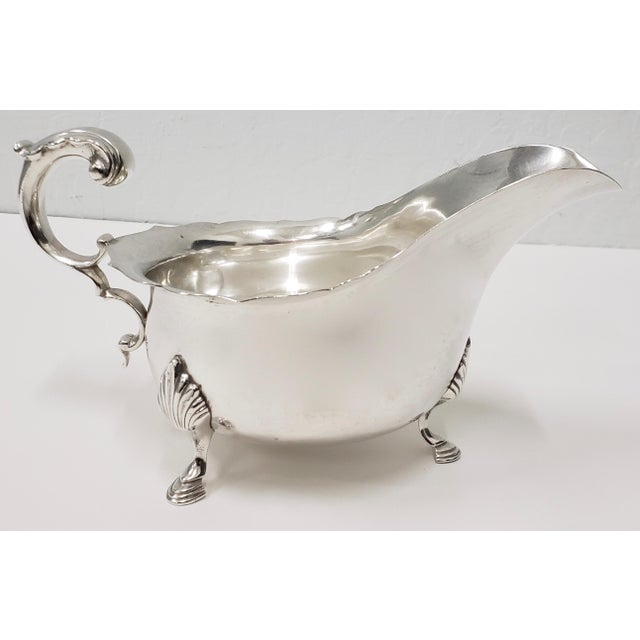 1940s Vintage Cartier Sterling Silver Gravy Boat For Sale - Image 5 of 5