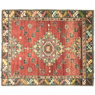 "Nalbandian - 1950s Turkish Oushak Rug - 5'6 X 6'7"" For Sale"