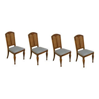 Stanley Furniture Contemporary Style Cane Back Dining Side Chairs- Set of 4 For Sale