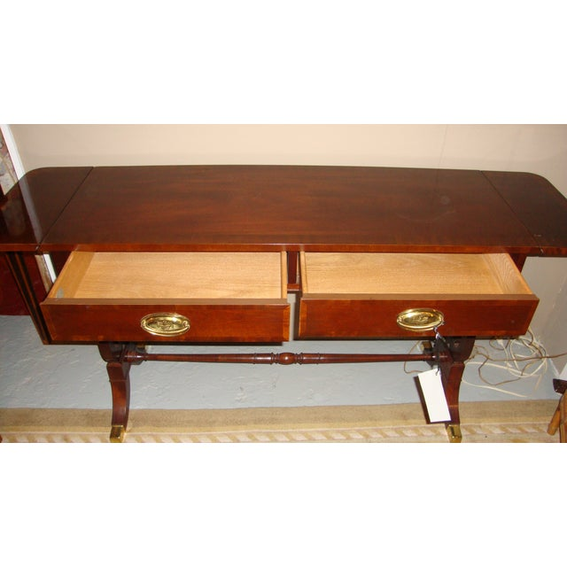 Baker Furniture Company Mahogany Sofa Table - Image 5 of 10