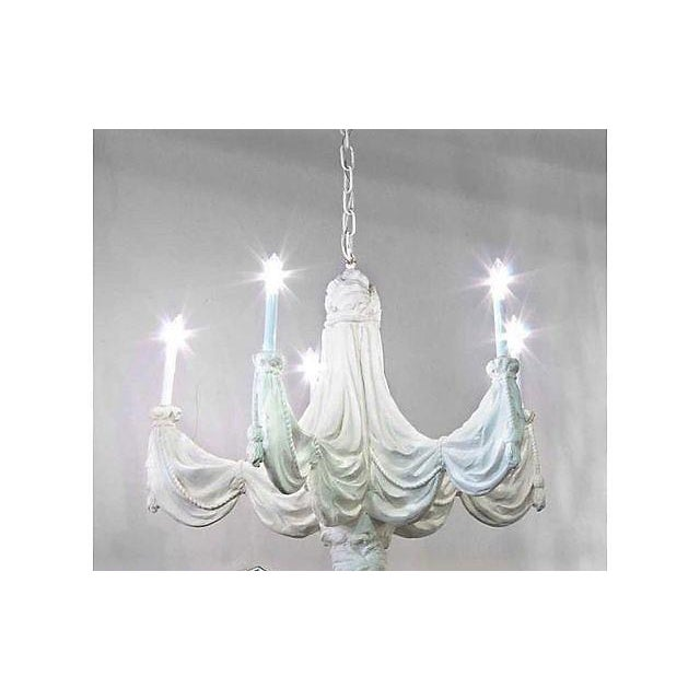 1970s Sirmos Trompe l'Oeil Plaster Chandelier For Sale - Image 5 of 8