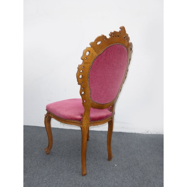 Ornate French Carved Tufted Back Chairs - Pair - Image 6 of 11